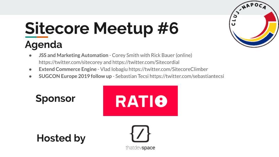 Sitecore Meetup (6) intro Cluj-Napoca