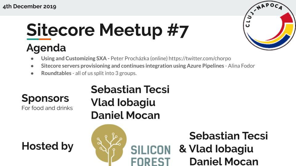 Sitecore Meetup (7) intro, Cluj-Napoca